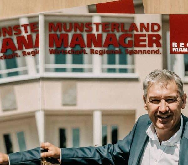 Dr. Schwerdtfeger Personalberatung auf dem Titelportrait im Muensterland Manager